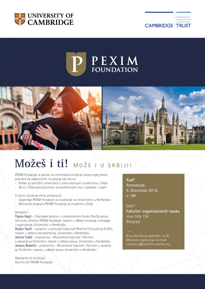 PEXIM Mentorship Gathering regarding Scholarship Applications for the 2020/21 Academic Year